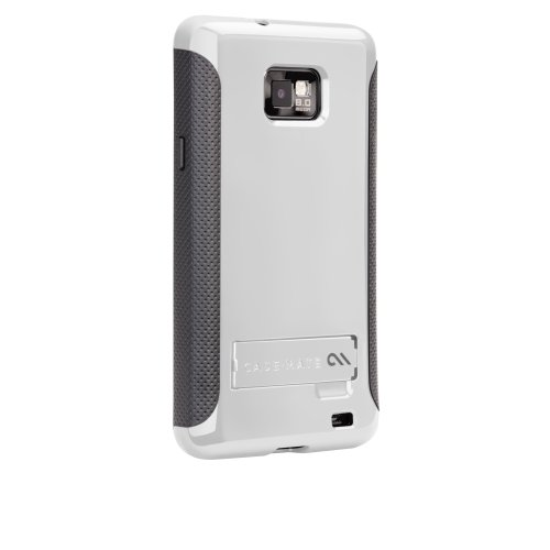 Case-Mate CM014641 Pop! Case with Stand for Samsung Galaxy S II - Canadian, International and AT&T SGH-i777 Versions - White/Cool Gray