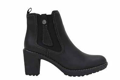 Bussola damen schwarze leder ankle boots uk8 eu41 amazon for Bussola amazon