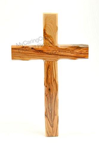 Genuine Bethlehem Olive Wood Knotted Wall Cross 10-1/4