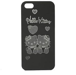 Bingsale Original Coque pour iPhone 5 5G motif Hello Kitty Noir