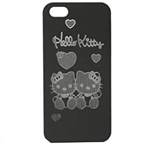 Bingsale Original Coque pour iPhone 5 5G motif Hello Kitty Noir
