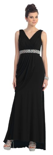 Party Prom Dress New Designer Long Gown #1002 (8, Black)