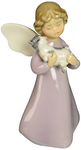 Cosmos 10150 Fine Porcelain You are Perfect Angel with Cat Figurine, 4-7/8-Inch