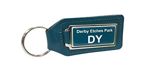 Derby come usi Depot Park Trenino turchese portachiavi in pelle