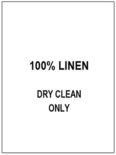 100 PRINTED CLOTHING LABELS, Care Labels (100% Linen…)