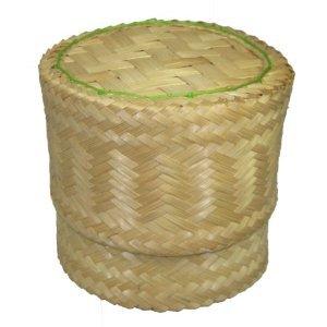 "Thai Handmade Sticky Rice Serving Basket Medium Size 6.6X3.5X5"" front-447744"