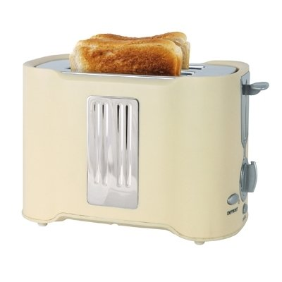 2 Slice Toaster in Cream and Chrome from Lloytron