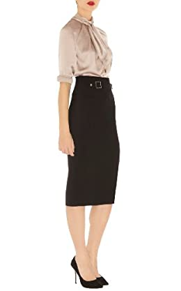 Military Tailored Pencil Skirt