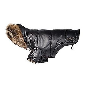 COACH Puffer Dog Coat with Removable Real Spanish Shearling Fur Trim 60343 - Medium