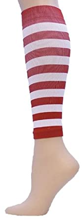 Buy Red Lion Adult Red & Striped Compression Leg Sleeves by Red Lion