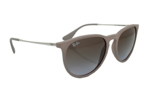 Ray-Ban 4171 600068 Dark Rubber Sand/Silver 4171 Erika Round Sunglasses Lens Ca