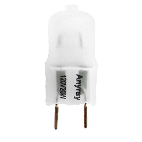 Anyray A1700F (20)-Pack 20 Watt G8 120V 130 Volt Halogen Light Bulb Frosted 20W 120 Volts G8S