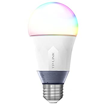 TP-Link Multicolor Smart Wi-Fi LED Bulb, Dimmable, Tunable White, No Hub Required, 60W Equivalent, Works with Amazon Alexa, 1-Pack (LB130)