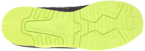ASICS Gel Lyte III Retro Running Shoe, Black/Black/Energy Green, 10.5 M US