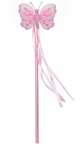 Pink Shimmer Nylon Butterfly Fairy Wand Dress Up Birthday Party Favor Costume