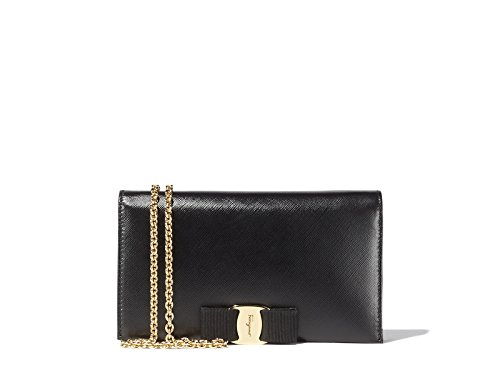 Salvatore Ferragamo Women's Embossed Calfskin Leather Mini Bag (One size, Black)