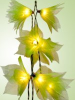 Stars String Light Set (Green Color) with White Cord for Birthday Party Decorating, Garden Party Decorations or Wedding Lights Product of Thailand