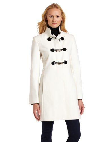 Via Spiga Women's Military Toggle Coat
