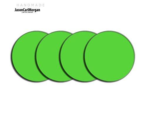 JCM Centre de roue en alliage PAC Badges pour Ford Saab BMW (Clr 60mm), vert clair