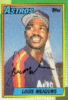 Louie Meadows Houston Astros 1990 Topps Autographed Hand Signed Trading Card. by Hall+of+Fame+Memorabilia