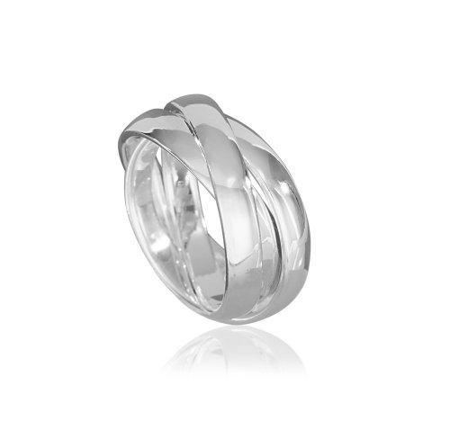 VINANI Damen 3er Ring Silber 925 Rund  Gr: 52 R3R52