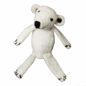 Wild Woolie Polar Bear Hand Felted Finger Puppet Ornament - Fair Trade from Nepal - 1