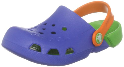 Crocs Kids Electro Mules And Clogs Sandal Seablue/Lime