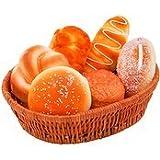 食品サンプル ふっくら パン 6種類 ディスプレイ 店舗 装飾 (カゴなし)