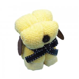 Yellow Puppy Dog Towel Wedding Party Favor Baby Shower front-341238
