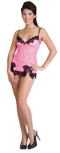 Фото Living Dead Souls Womens/Juniors Sexy Lace Camisole- Pink/Black