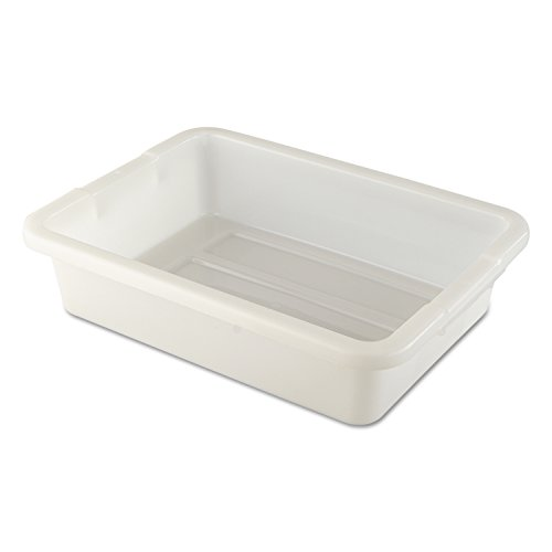 Rubbermaid Commercial Products FG334900WHT 4 5/8-Gallon White Bus/Utility Box (Large Dish Pan compare prices)