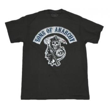 Sons of Anarchy T-shirt Reaper Logo (X-Large, Black)