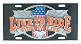 New - Live to Ride - 3D License Plate - 623723