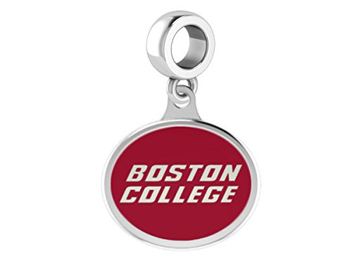 Boston College Eagles Sterling Silver Enamel Drop Charm Fits European Style Charm Bracelets