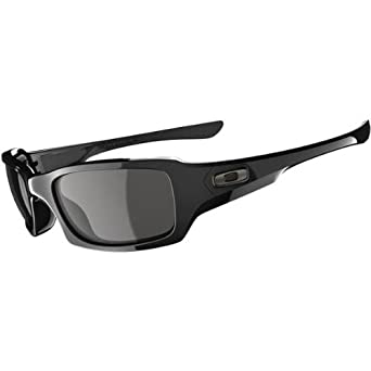 Oakley Fives Squared in Polished Black / Grey Sunglasses (03-440)