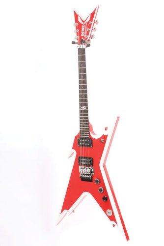 Dean Razorback Electric Guitar - Red/White
