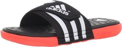 adidas Men's Adissage SC Slide Sandal,Black/Running White/Infrared,5 M US