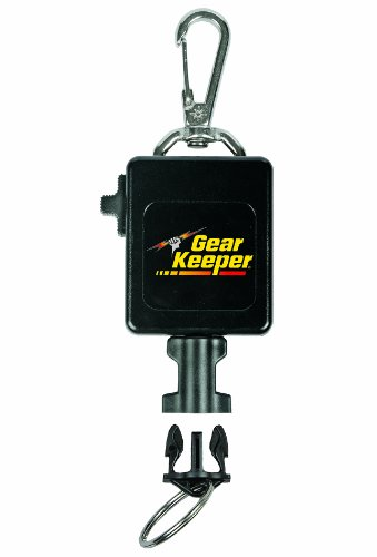 Gear Keeper RT3-0092 Locking Large Flashlight and Camera Retractor Stainless Steel Snap Clip Mount with Q/C-II Split Ring Accessory