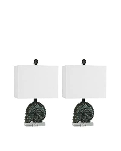 Couture Lamps Set Of 2 Nautilus Accent Lamps, Silver As You See