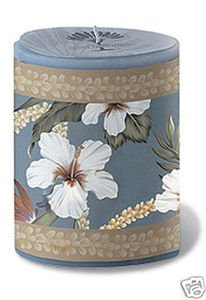 Hawaii Oval Decal Candle Floral 4 x 3 x 5.25 in.
