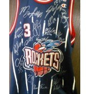 Signed Rockets, Houston (2001-02) Champion Authentic Jersey By The 2001-02 Rockets... by Powers Collectibles