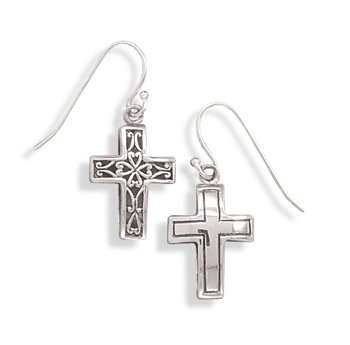 Reversible Cross Earrings