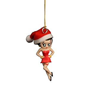 #!Cheap Betty Boop 3D Figure Holiday Dangler 3 inch Christmas Ornament