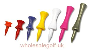 200 mixed castle golf tees - any mixture you like - all 7 sizes available (LOW COST SHIPPING)