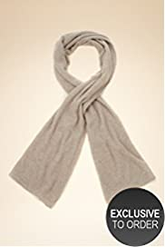 Pure Cashmere Brioche Stitch Oversize Scarf
