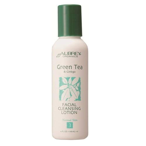 Aubrey Organics - Green Tea & Ginkgo Facial Cleansing Lotion, 4 Fl Oz Lotion