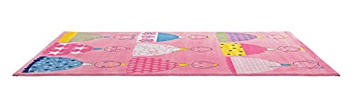 CT RUGS for Kids Cute Girls Pink Area Rug 5'3''x7'7''