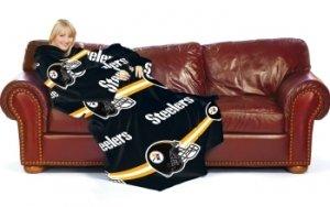 "Pittsburgh Steelers Nfl Adult Huddler 71"" X 48"" Fleece Snuggie Throw Blanket front-485135"