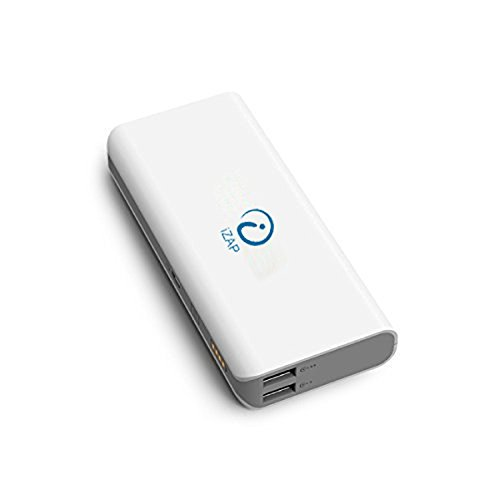 iZAP USB Portable Power Supply 10000mAh Dual USB Output Power Bank for Apple iPhone iPad Samsung HTC Sony Xiaomi Smartphone (6 Months Warranty)  available at amazon for Rs.899