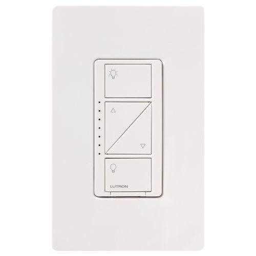 Lutron PD-6WCL-WH Caseta Wireless 600/150-Watt Single Pole In-Wall Dimmer, White